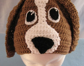 Basset Hound - Hat Crochet Pattern - Animal Hat - With Tutorials - Dog Lovers Gift - Women's Gift - Dog Theme Gifts - PDF - Digital Download