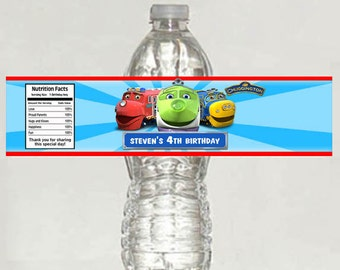Printable ChuggingtonTrains Water Bottle Labels Birthday Party