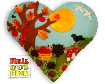 PDF Pattern Autumn Heart Around the Appletree