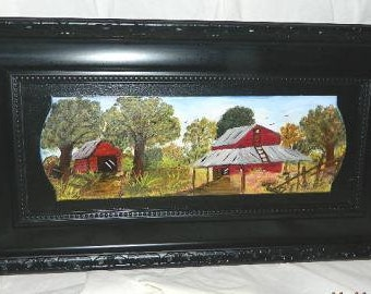 Tobacco Barn  Farm Scene Painting