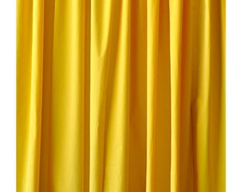 Yellow Velvet 72 H Curtain Long Panel Beautiful Boutique Wedding Event Decor Photobooth Props Backdrop