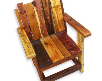 Rustic Arm Chair, Reclaimed Wood Chair, Rustic Wood Chair, Entryway Chair,  Wooden
