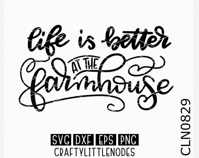 Farmhouse Svg, Hand Lettered Svg, Farmhouse Decor Svg, Farmhouse Sign Svg, Wood Sign Svg, Cricut Svg, Silhouette Svg, Cutting FIles, Svg