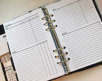 Monthly Task Manager Planner Inserts Half Letter size for  A5  Planners