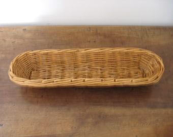 Vintage French Bread Serving Basket /  Boulangerie Bread Proving Basket