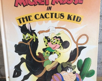 vintage 1990's Disney book, Mickey Mouse book, Mickey Mouse and the Cactus Kid, Disney Minnie Mouse Minnie Mouse