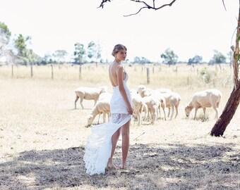 bohemian lace wedding dress - The Riverina