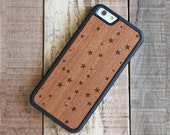 iPhone 6 Wood Case - Rosewood iPhone 6 Case - Stars iPhone 6 Case - SHK-R-I6-STARS