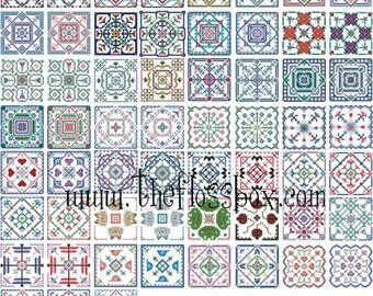Biscornu Cross Stitch Pattern Pack 2