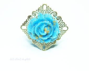 Rings to choose the garden flowers • Metal and porcelain cold summer Collection 2015 spring and cool jewelry • •