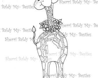 INSTANT DOWNLOAD Digital Digi Stamps Big Eye Big Head Dolls Bestie New Bestie Unicorn  Img392 My Besties By Sherri Baldy