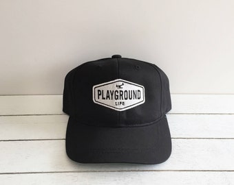 PLAYGROUND LIFE | Toddler & Kids Snapback Hat, Kids Trucker Hat, Kids Baseball Cap, Childrens Snapback Hat, Youth Snapback