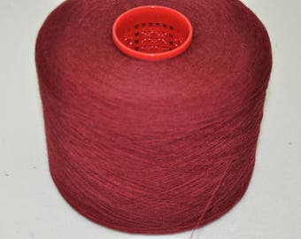 1 spool 1,0 kg wool merino color blueberry nm 48/2  hand knitting yarn on a cone