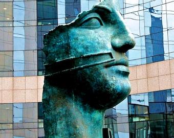 Paris Photography-Tete Monumentale in Paris, France-Travel, Sculptural, French, European, Fine Art Photography