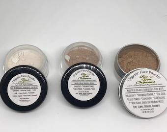 Organic Face Powder | Natural Makeup | Powder Foundation | Organic Makeup | For Oily Skin | Sensitive Skin | Natural Skin Care |Powder
