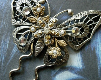 Large Butterfly Hair Pin