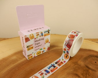 Sewing Washi Tape, Crafting Japanese Tape, Gift for Seamstress, Crafter, 15mm Tape