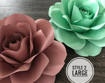 SVG STYLE 2 Large Rose Template