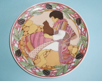 Unicef Children Of The World Plate No. 6 Child of Mexico 1982 Heinrich Villeroy and Boch 8 Inch Decorative Plate