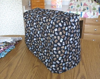 Sewing machine cover and matching pin cushion