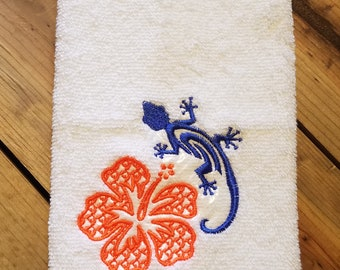 Embroidered Facial Cloth - Gecko