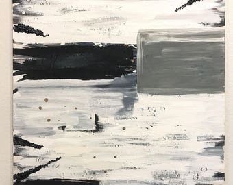 Oversized Modern Abstract Acrylic Painting 36x48