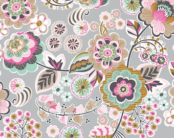 Deco Park in Grey - NATURAL WONDER  by Josephine Kimberling for Blend Fabrics - By the Yard