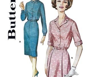 Butterick 2256 Women's 60 Shirtwaist Dress Sewing Pattern Size 14 1/2, Bust 35