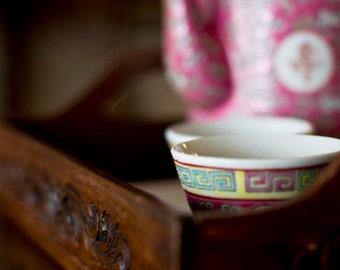 Porcelain Tea set photo Dining room decor Food photo chinoiserie photo Peranakan tea set Wooden carved tray Kitchen decor cafe restaurant