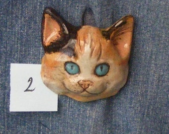 Big Large Cat Button One Of A Kind , Extra Large Cat Button No. 2