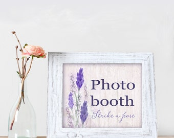 Lavender Wedding Signs - Photo Booth - Printable - Wed de Provence - Decor Signage - Decoration - Reception Sign Wedding Signage