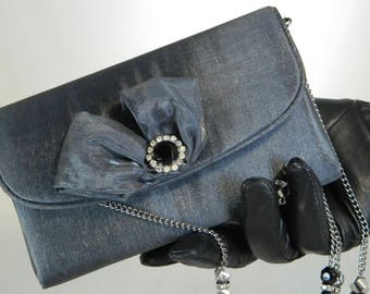 Gray Small Evening Purse, Classy Purse, Chic Purse, Evening Purse, Exclusive Purse, Fashion Purse, Gift for Her