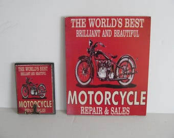 Motorcycle Wall Hangings Motorcycle Hooks Motorcycle Pictures Motorcycle Repairs and Sales Man Cave Decor Gift for Him Motorcycle Key Holder