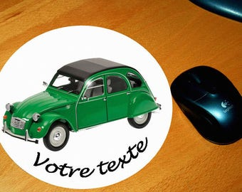 Mouse pad 2 cv green personalized text of your choice