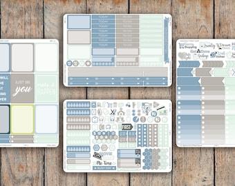225 Sticker 4 Sheet TIDAL POOL Sampler Kit V2 for 2018 inkWELL Press Planner, Erin Condren IWP-L4