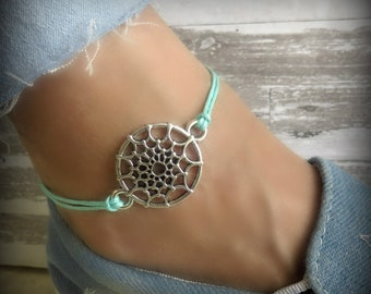 catcher a dream silver collection wid sterling dreamcatcher journee hei p anklet women s beaded turquoise fmt