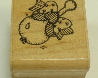 Baby Rattle Wood Mounted Rubber Stamp By DOTS Hearts