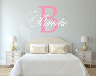 Personalized Name Wall Decal, Name Wall Decal, Baby Nursery Decal, Nursery Name Decal, Monogram Decal, Girl Name Decal, Monogram - WD0163