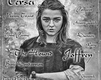 Arya and The Prayer - Game of Thrones illustration A3 print