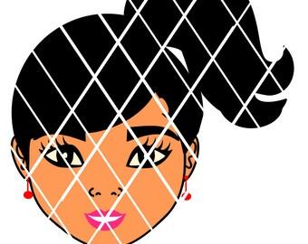 Little Girl Ponytails svg,Sistah svg,Silhouette svg,t-shirt designs,black girl hair,Afro puff,Black Girlsvg,African American svg