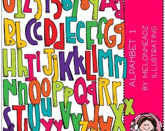 Alphabet 1 clip art - COMBO PACK