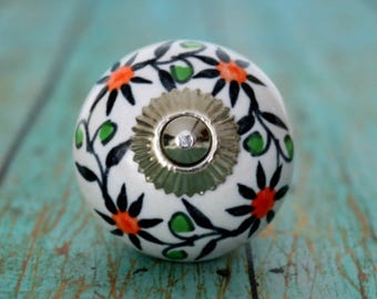 Round Ceramic Cabinet Knobs