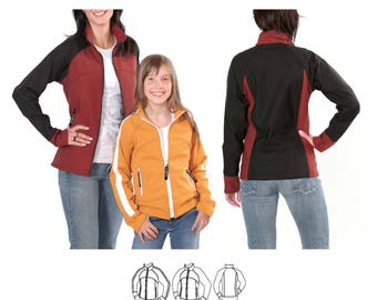 Jalie 2679 - Softshell Jacket / 27 Sizes / Child & Adult