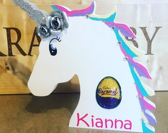Unicorn KinderCreme Egg Easter Holder