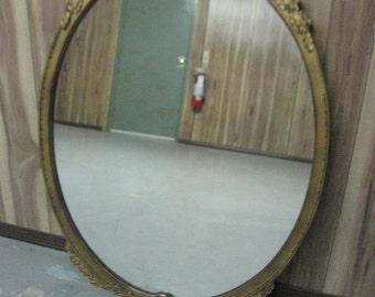 "Antique Oval Mirror 30"" X 42"""