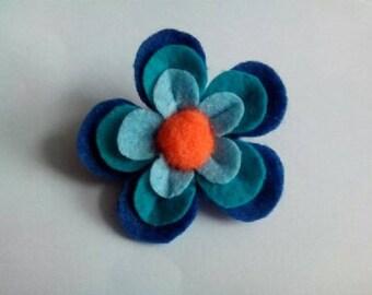 Spring felt flower brooch