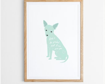 Greatest Gift - Typographic Dog Print  / Various Colours / Nursery Art / Dog Lover's Gift / Poster