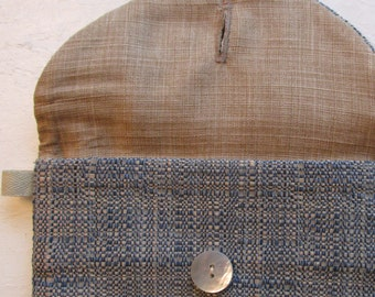 Blue Envelope Organizer / Vintage Look/ Travel Bag