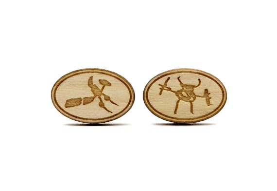 Custom cufflinks - customized - lasercut wood or mirror acrylic - personalized with initials or logo - made on order - wedding gift