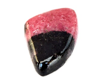 Rhodonite Cabochon Stone (24mm x 16mm x 5mm) 21.5cts - Fancy Cabochon